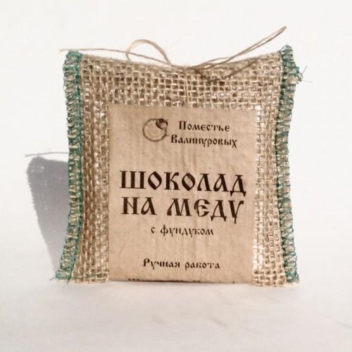 Шоколад натуральный на меду, 30г.